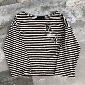 All Saints striped long sleeve top